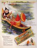 1928 Wrigley Gum Ad ~ Mother Goose Up-to-Date