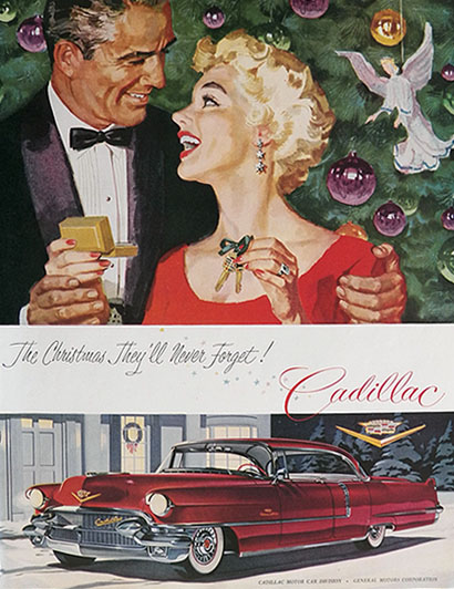1956 Cadillac Ad ~ Under The Christmas Tree