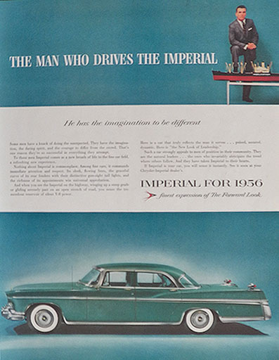 1956 Chrysler Imperial Ad ~ Imgagination to Be Different