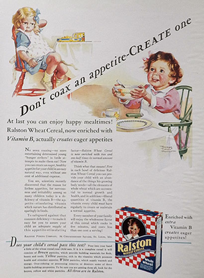 1932 Ralston Cereal Ad ~ Frances Tipton Hunter