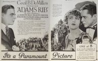 1923 Movie Ad ~ Adam's Rib ~ Cecil B. DeMille