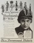 1923 Movie Ad ~ Gloria Swanson ~ Bluebeards 8th Wife