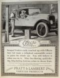 1923 Pratt & Lambert Effecto Auto Finish Ad ~ Edward Penfield