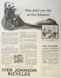 1923 Iver Johnson Bicycle Ad ~ Built Like a Bridge