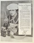 1923 Heinz Pickles Ad ~ Uniformity in Food Preparation