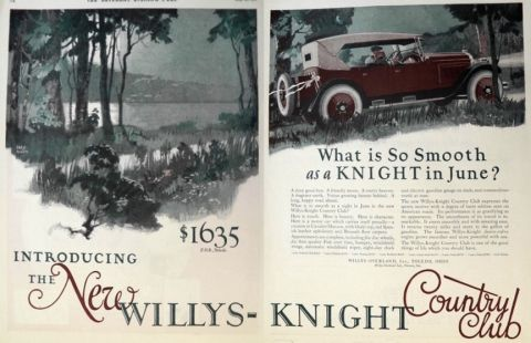 1923 Willys Knight Country Club Ad ~ Fred Mizen Art