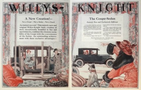 1923 Willys Knight Ad ~ F.X. Leyendecker Art