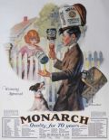 1927 Monarch Foods Ad ~ Boy Tries to Impress Girl