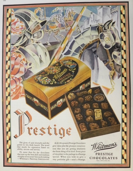 1929 Whitman's Prestige Chocolates Ad