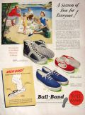 1949 Ball Band Shoes Sneakers Ad ~ A Season of Fun