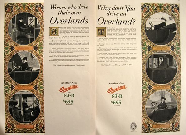 1916 Willys Overland Model 83-B Ad ~ Photos of Women Who Own One