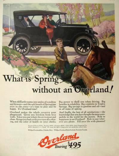 1924 Willys Overland Touring Car Ad