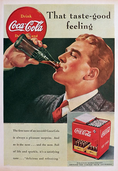 1939 Coca Cola Coke Ad ~ Taste-Good Feeling