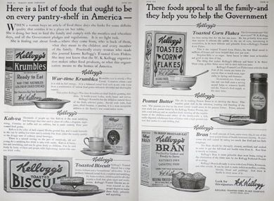 1918 WWI Kellogg's Food Ad ~ Help the Government