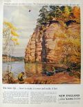 1960 New England Life Insurance Ad ~ Wisconsin Dells
