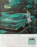 1960 Pontiac Ventura Sports Coupe Ad ~ Three's a Romance