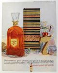 1959 Seagram's 7 Whiskey Ad ~ Christmas Decanter