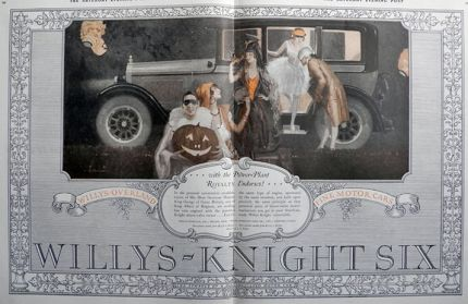 1925 WIllys Knight Ad ~ Halloween Party