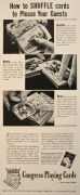 1940 Congress Playing Cards Ad ~ How to Shuffle