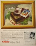 1940 Congress Playing Cards Ad ~ Holiday Gift Box