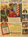 1939 Glenmore Whiskey Ad ~ Why Are There Barber Poles?
