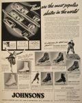 1939 Vintage Nestor Johnson Ice Skates Ad