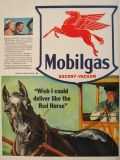 1941 Mobilgas Ad ~ Deliver Like the Red Horse