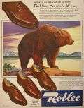1942 Roblee Shoes Ad ~ Kodiak Bear Brown