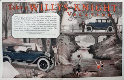 1923 Willys Knight Ad ~ Willys Vacation