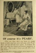 1897 Pears Soap Ad ~ Of Course It's Pears