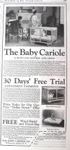1921 Antique Baby Cariole Playpen Crib Ad