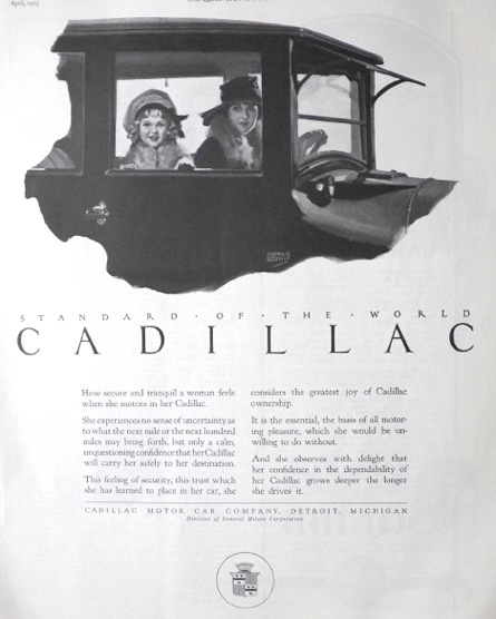1923 Cadillac Ad ~ Secure & Tranquil