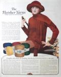 1923 Fleisher Yarns Ad ~ Directions for Thornhill Sweater