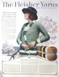 1923 Fleisher Yarns Ad ~ Directions for Ardennes Sweater