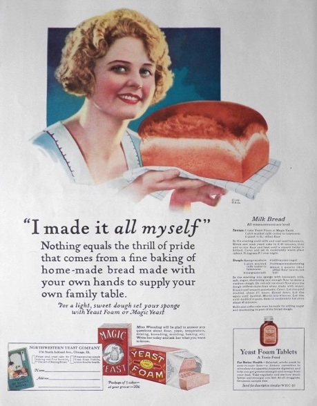 1923 Magic Yeast Ad ~ Milk Bread Recipe