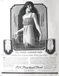 1923 P.N. Practical Front Corsets Ad ~ Edward Eggleston Art