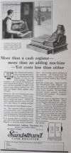 1922 Antique Sundstrand Cash Register Ad