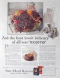 1923 Sunmaid Raisins Ad ~ Feast Of Olden Time