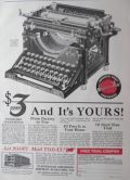1922 Underwood Typewriter Ad ~ $3 Down ~ Shipman Ward