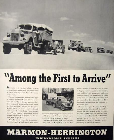 1942 Marmon Herrington Military Vehicles Photo Ad