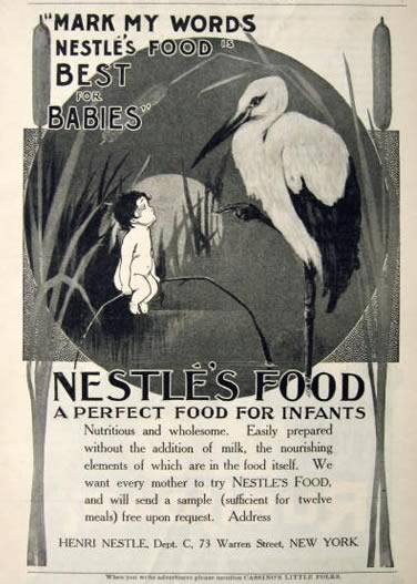 1905 Nestles Baby Food Ad
