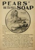 1905 Pears Soap Ad ~ Child Bathes Puppy