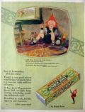 1928 Wrigley's Double Mint Gum Ad ~ Mother Goose Up-To-Date ~ Little Spear Horner