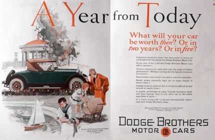1926 Dodge Roadster Ad ~ A Year From Today