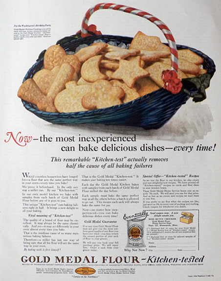 1926 Gold Medal Flour Ad ~ Holiday Cookies