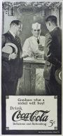 1924 Coca Cola Coke Ad ~ Men at the Soda Fountain