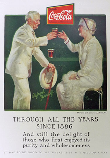 1926 Coca Cola Coke Ad ~ Elderly People ~ Fred Mizen
