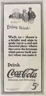 1923 Coca Cola Coke Ad ~ Enjoy Thirst