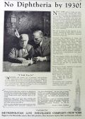 1926 Met Life Insurance Ad ~ No Diphtheria by 1930!