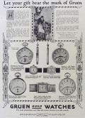 1923 Gruen Watches Ad ~ Pentagon, Empire